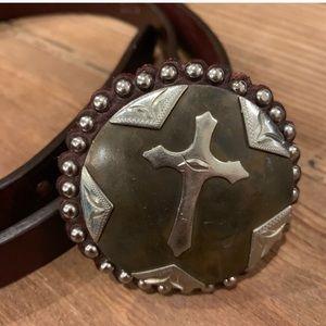 ✝️ ✝️ beautiful cross leather belt ✝️ nwot